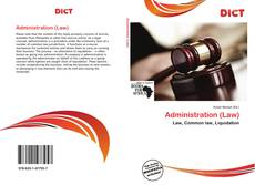 Bookcover of Administration (Law)