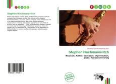 Обложка Stephen Nachmanovitch