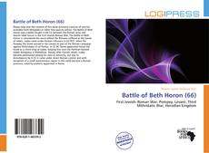 Bookcover of Battle of Beth Horon (66)