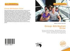 Bookcover of Group Attribution Error