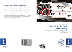 Bookcover of Certificate in Data Processing