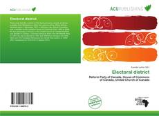 Bookcover of Electoral district