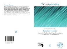 Capa do livro de Kostas Tsanas