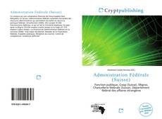 Capa do livro de Administration Fédérale (Suisse)