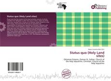 Capa do livro de Status quo (Holy Land sites)