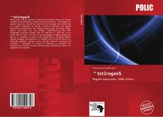 Bookcover of ^txt2regex$