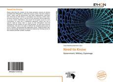 Buchcover von Need to Know