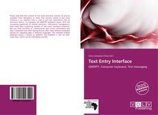 Bookcover of Text Entry Interface