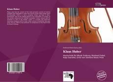 Bookcover of Klaus Huber