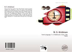 Bookcover of N. S. Krishnan