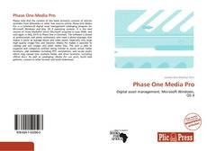 Phase One Media Pro的封面