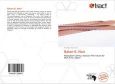 Balan K. Nair kitap kapağı