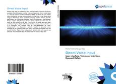Couverture de Direct Voice Input