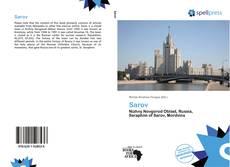 Portada del libro de Sarov
