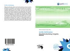 Capa do livro de Link-richness