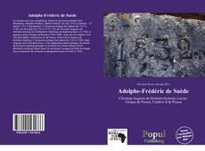 Portada del libro de Adolphe-Frédéric de Suède