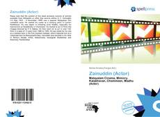 Bookcover of Zainuddin (Actor)