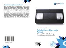 Bookcover of Balakrishna (Kannada Actor)