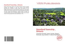Bookcover of Stamford Township , Ontario