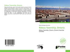 Bookcover of Rideau Township, Ontario