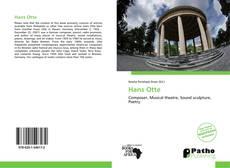 Bookcover of Hans Otte