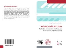 XQuery API for Java kitap kapağı