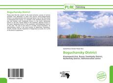 Portada del libro de Boguchansky District