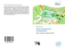 Bookcover of Petar Stojanović (Composer)