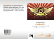 Claude Vivier kitap kapağı