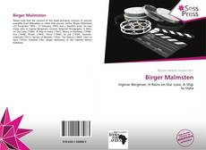 Bookcover of Birger Malmsten