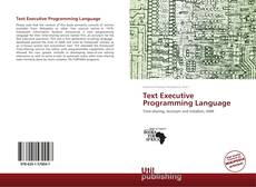 Text Executive Programming Language kitap kapağı