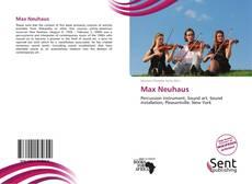 Buchcover von Max Neuhaus
