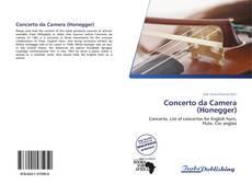 Capa do livro de Concerto da Camera (Honegger)