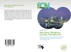 Bookcover of Ben Avon, Allegheny County, Pennsylvania