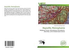 Portada del libro de Haysville, Pennsylvania