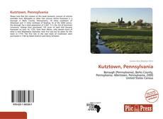 Bookcover of Kutztown, Pennsylvania