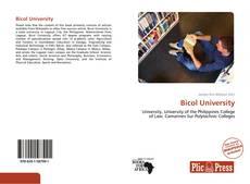 Bookcover of Bicol University