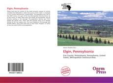 Capa do livro de Elgin, Pennsylvania