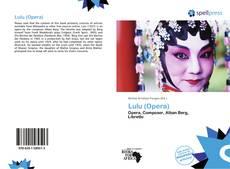 Bookcover of Lulu (Opera)