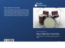 Portada del libro de Onyx Club (New York City)