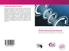 Copertina di Pirelli Internetional Award