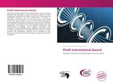 Couverture de Pirelli Internetional Award