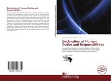 Bookcover of Declaration of Human Duties and Responsibilities