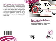 Обложка Early intensive Behavior Intervention