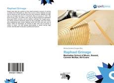 Bookcover of Raphael Grinage