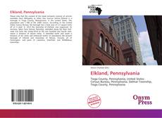 Bookcover of Elkland, Pennsylvania