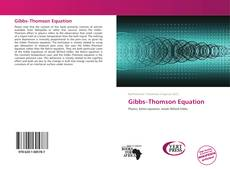 Couverture de Gibbs–Thomson Equation