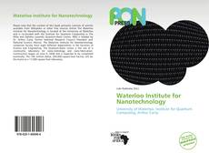 Bookcover of Waterloo Institute for Nanotechnology
