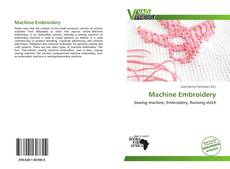 Portada del libro de Machine Embroidery