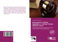 Buchcover von Anonymous Online Speakers v. United States District Court
